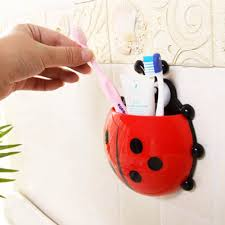 Ladybug Bathroom Accessories 2017 Wholesale New Ladybug Cartoon Sucker Toothbrush Holdercute