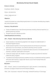 manufacturing resume sample production technician resume emelcotest com