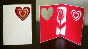 rose pop up card valentine s day birthday or greeting ezycraft you