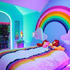 Plexi rainbow in this adorable rainbow-themed room. Photo and rainbow  created by