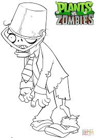 Plants Vs Zombies Buckethead Zombie Coloring Page Free Printable