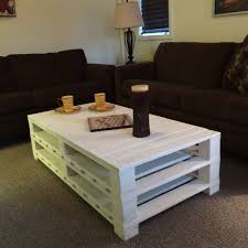 ... Coffee Table, New White Rectangle Nautical Wood Pallet Coffee Table Diy  With Storage Designs To ...