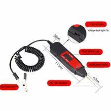 Digital Display Test Light Spring Line Repair Tester Pen Probe Voltage Test Digital Display Detectors Car Led Light Electric