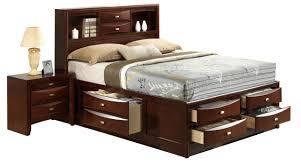 Global Bedroom Furniture Furniture Linda King Storage Bed In Merlot