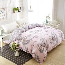 2019 high density polyester cotton duvet cover simple pink flower bedding double single duvet quilts comforter case twin full queen from raymonu