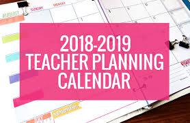 Teacher Binder Templates Printable 2018 2019 Calendar Template Kindergartenworks