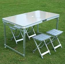 outdoor table and chairs folding. Best Quality Aluminum Outdoor Table Sets,1 4 Chairs,folding Intended For Picnic Benefits Of Furniture And Chairs Folding L