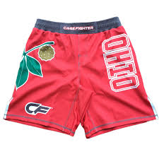 Cage Fighter Shorts Size Chart Cage Fighter Ohio State Fight Shorts