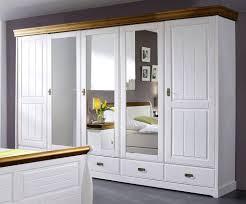 Schlafzimmer Set 4teilig Kiefer Massiv 2farbig Weiß Gewachst