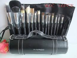 outlet whole mac 16 pcs brush set with black pouch ma