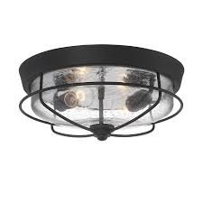 portfolio valdara 14 5 in w matte black outdoor flush mount light