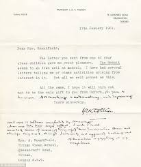 what a naughty little hobbit lord of the rings writer tolkein  artefact a letter written by lord of the rings author jrr tolkien deriding teaching has