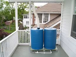 introduction elevated dual barrel rainwater collection system