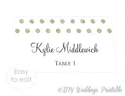 Dinner Name Card Template Table Place Names Template