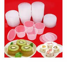 Combo 50 Hũ Làm Bánh Flan công ty Thanh Dung hộp 1A Sữa Chua Rau Câu Dùng  Được Lò Vi Sóng