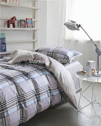 whole 100 cotton modern grey checked bedding set 1 duvet cover 150 210cm sliver plaids flat sheet bedspread 180 230cm full comforter set grey comforter