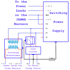 arcade power supply wiring diagram wiring diagrams arcade switching power supply wiring diagram digital