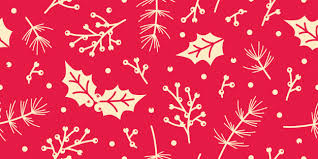 Christmas Pattern Simple Seamless Christmas Pattern Spruce Holly Leaves Berry Leaf Background