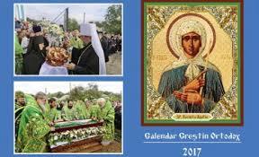 calendar ortodox luna octombrie 2016