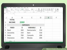 How To Create A Working Budget With Examples Wikihow