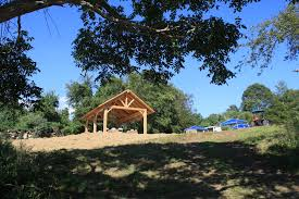What is a pavilion Architecture Which Starts At Route 27 And Runs Through The Lower Coogan Property The Pavilion Is Located In The Northernmost Corner Of What Was Once Called Camp Woodland Hills Denison Pequotsepos Nature Center Hamm Pavilion Classroom Opened