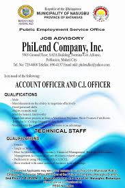 Peso Nasugbu - Peso Job Advisory !!! Philending Is Now... | Facebook