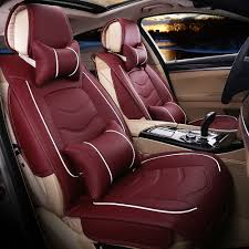 red leather car seat covers luxury leather car seat cover