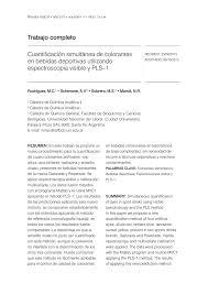 Cuantificaci N Simult Nea De Colorantes Pdf Download Available