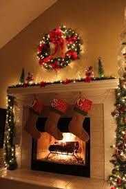 Plain Decoration Christmas Fireplace Decor Best 20 Decorations Ideas On  Pinterest