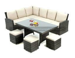 outdoor corner dining set natural rattan outdoor furniture