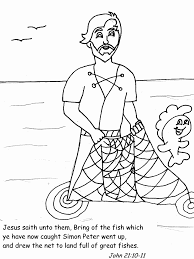 Small Picture Coloring Pages Fish Disciples Coloring Pages