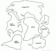 Continent Cut Out Sheet For Pangea