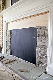 install airstone on a faux fireplace blesser house featured on