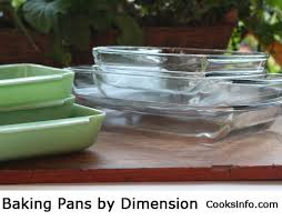 Cake Pan Equivalent Chart Baking Pans By Dimension