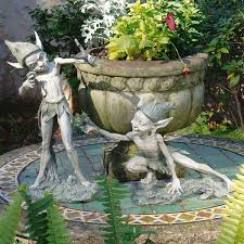 fairy garden statues. Design Toscano Sling And Stretch The Garden Pixies Fairy Statue Statues G