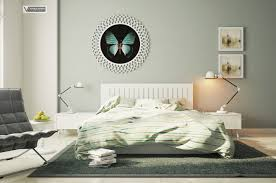 Modern Bedroom Art Contemporary Bedroom Design With White Bed Furniture Butterfly