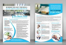 half page flyer professional upmarket flyer design for sit back host by debdesign