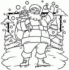 Christmas Coloring Page Santa Home Santa Claus Tree Pages