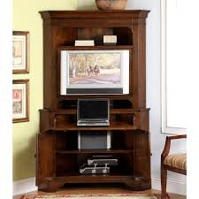 corner brown wood computer armoire and ikea accent