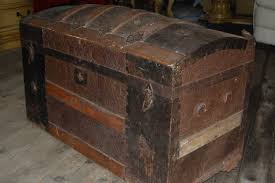 antique wooden trunks image and candle victimist