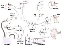 simple harley generator wiring diagram