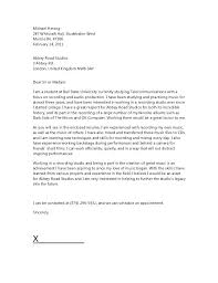 Music Industry Cover Letter Cover Letter Music Industry Resume