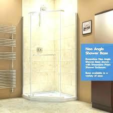 36 inch shower pan angle shower slimline x angle single threshold shower base petite angle corner