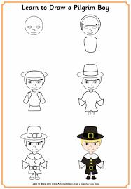 Small Picture Learn to Draw Pilgrim Boy Thanksgiving Pinterest Pilgrim