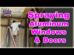 painting aluminum windows doors spraying metal windows how to paint metal