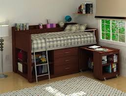 kids bunk beds with desk and storage double loft bed