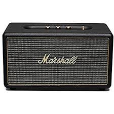 speakers marshall. marshall stanmore bluetooth speaker, black (4090107) speakers amazon.com