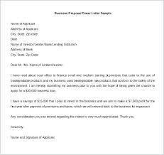 Sample Business Plan Cover Letter Business Proposal Cover Letter