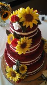 Wedding Cakes With Roses Sunflowers Year Of Clean Water