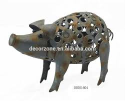 metal garden ornaments pig outdoor decor